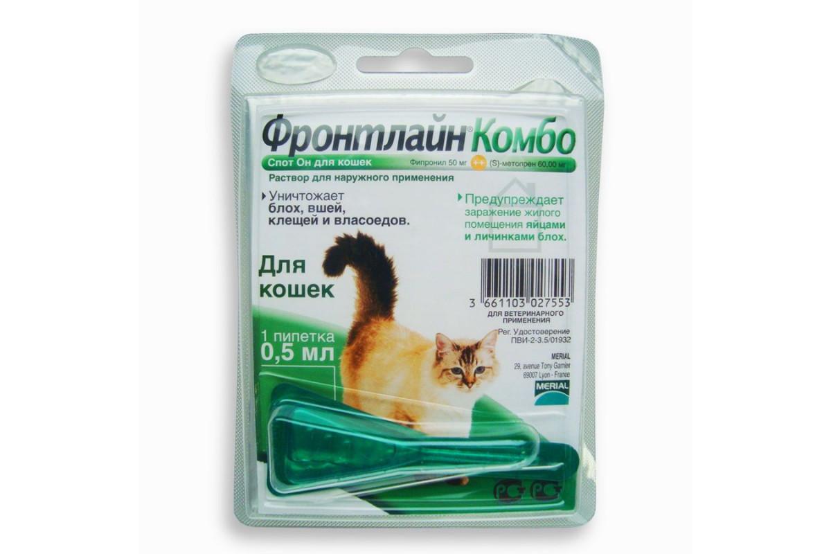 Boehringer Ingelheim Фронтлайн Комбо – капли для котов для борьбы с блохами, вшами, власоедами и клещами