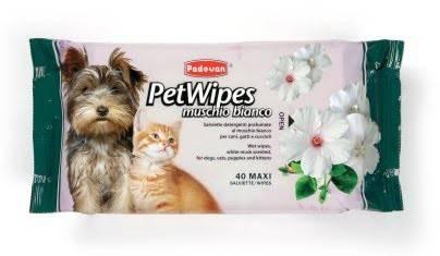 PADOVAN Pet Wipes Muschio Bianco – вологі серветки для собак і котів