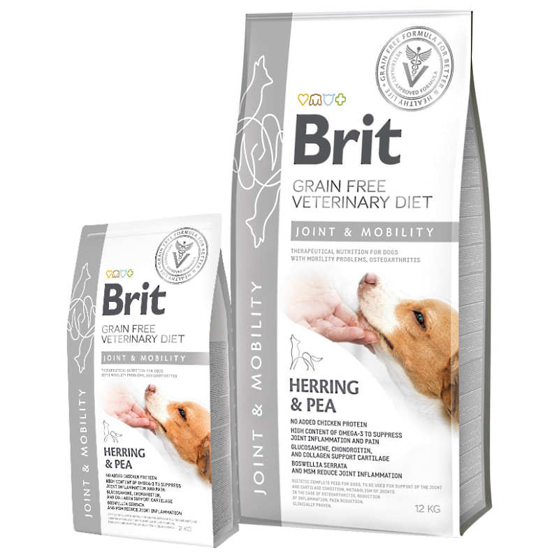 Brit Veterinary Diet Dog Mobility – лечебный сухой корм для собак при нарушении подвижности суставов