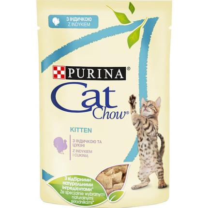 CAT CHOW KITTEN – консерва з індичкою і цукіні для кошенят