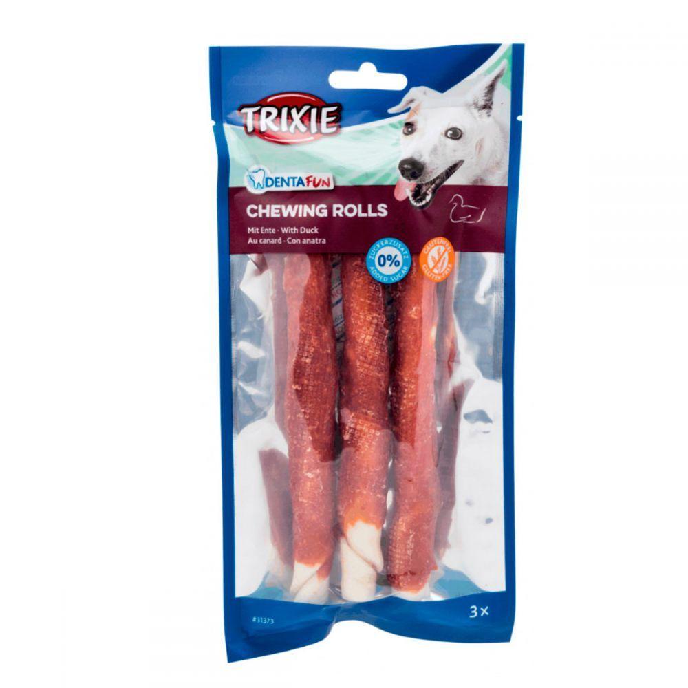 Trixie DENTAFUN Chewing Rolls лакомства с уткой для чистки зубов для собак, 3 шт