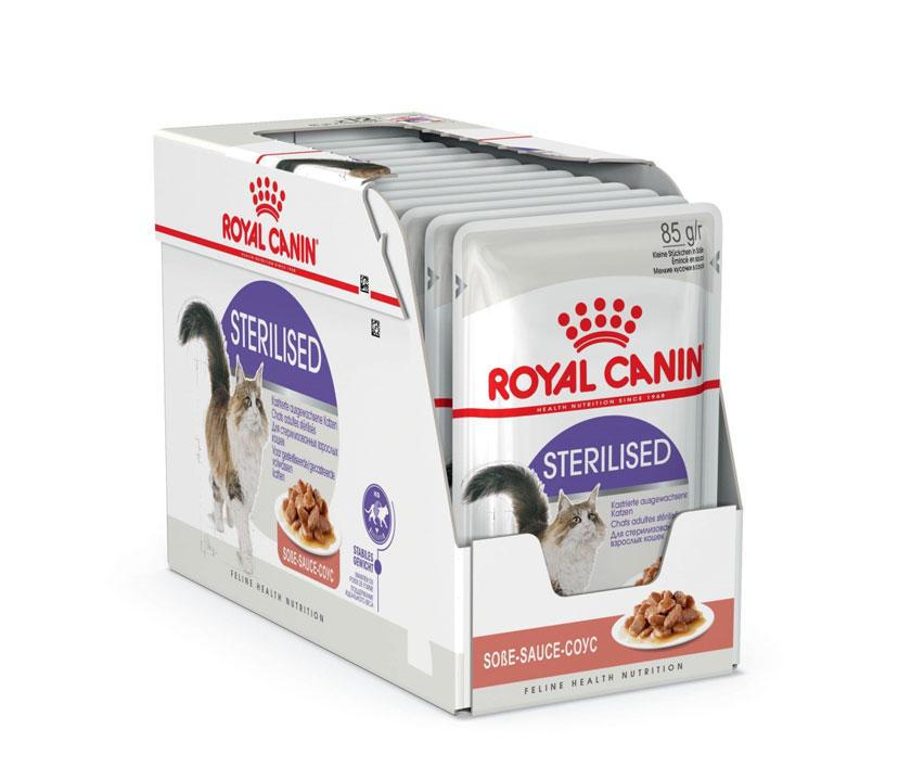 ROYAL CANIN STERILISED wet in gravy – вологий корм, шматочки в соусі, для стерилізованих котів
