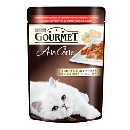 GOURMET A la Carte вологий корм з яловичиною для дорослих котів