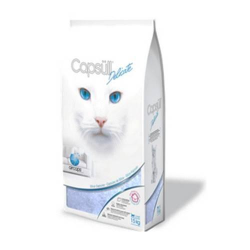 CAPSULL DELICATE – кварцевый наполнитель для туалетов котят и чувствительных котов