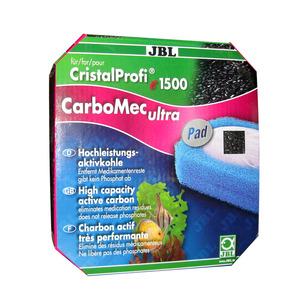 JBL CarboMec ultra Pad CristalProfi e1500 – фільтруючий матеріал з активованим вугіллям для фільтра CristalProfi е1500, 800 мл