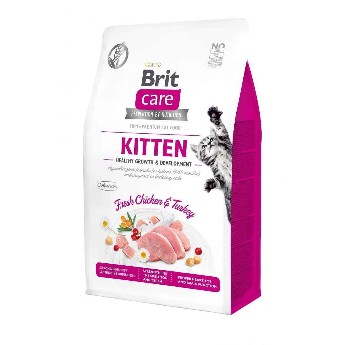 BRIT CARE CAT KITTEN – сухой корм с курицей и индейкой для котят