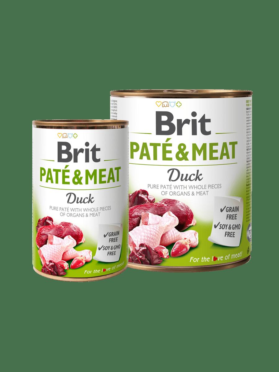 BRIT PATÉ & MEAT DUCK – вологий корм з качою для дорослих собак