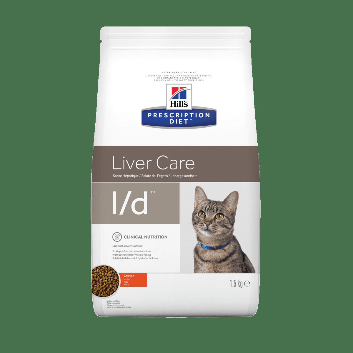 HILL'S PRESCRIPTION DIET L/D LIVER CARE – лечебный сухой корм для котов с заболеваниями и/или снижением функций печени