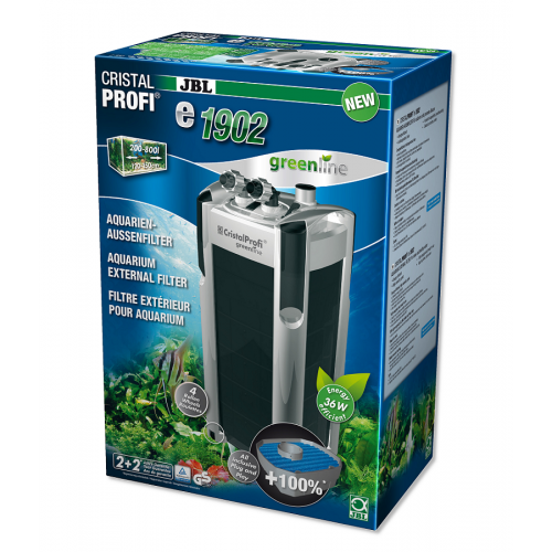 JBL CristalProfi e1902 GreenLine – зовнішній фільтр для акваріума, 200 – 800 л
