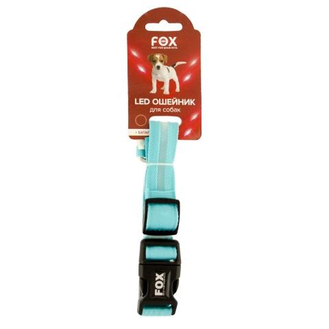 Fox LED нашийник для собак, що світиться, L