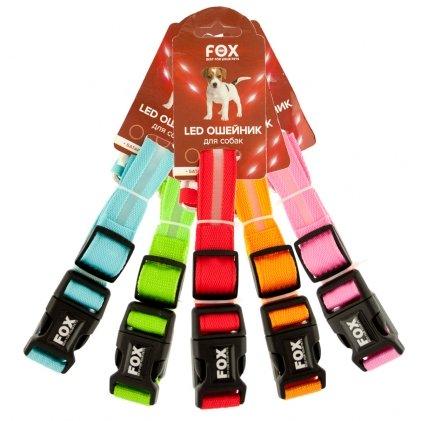 Fox LED нашийник для собак, що світиться, M