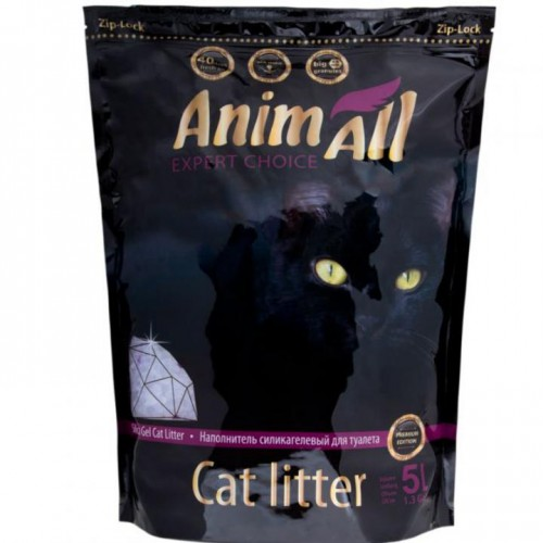 """AnimAll """"Кристаллы аметиста"""" – силікагелевий наповнювач для котячих туалетів"""