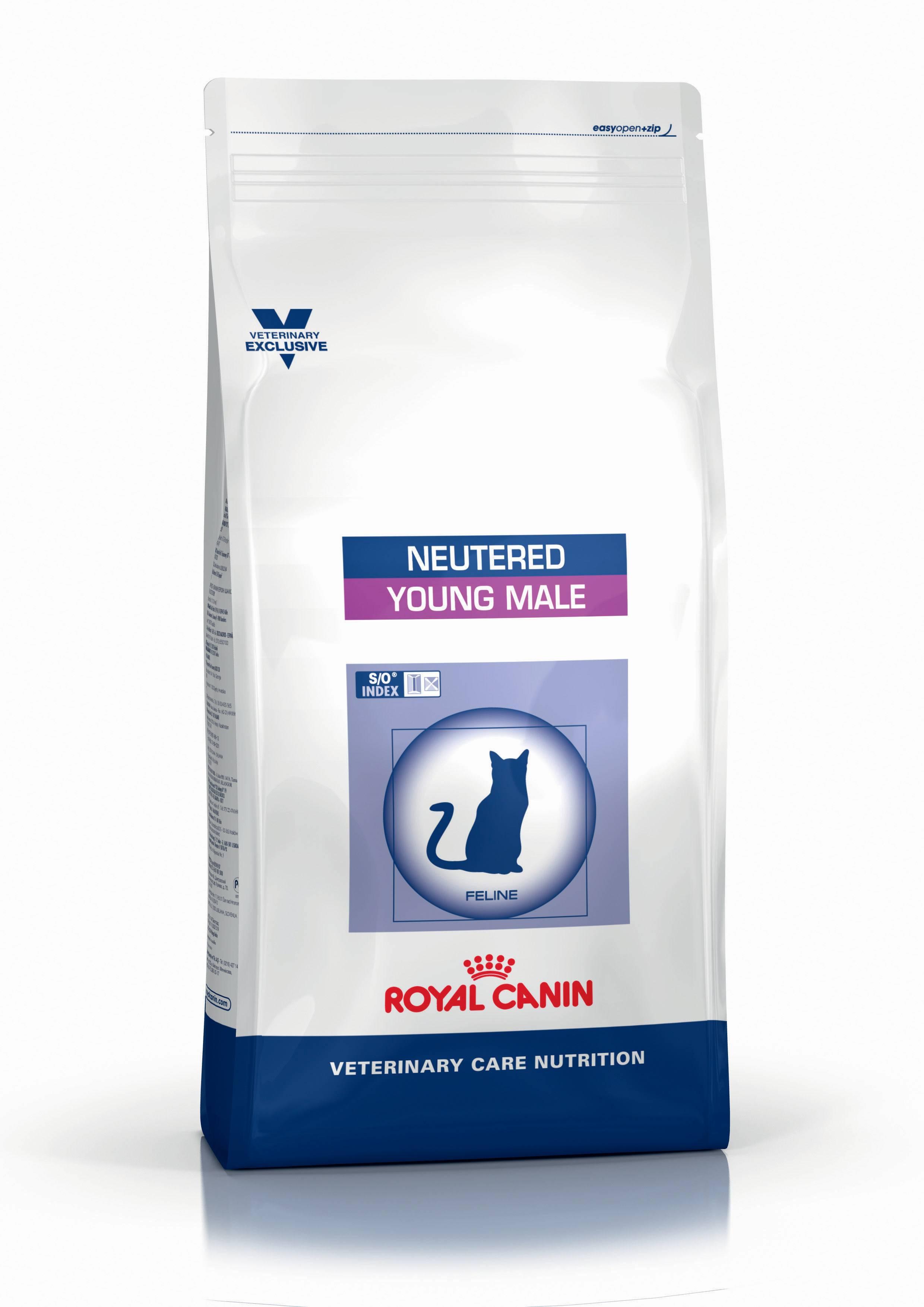 ROYAL CANIN YOUNG MALE – лечебный сухой корм для стерилизованных котов с момента операции до 7 лет