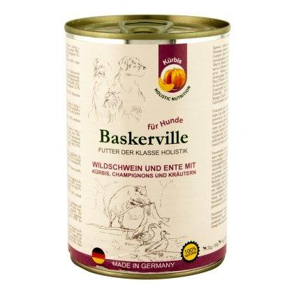 Baskerville Holistic влажный корм с мясом кабана и утки для взрослых собак
