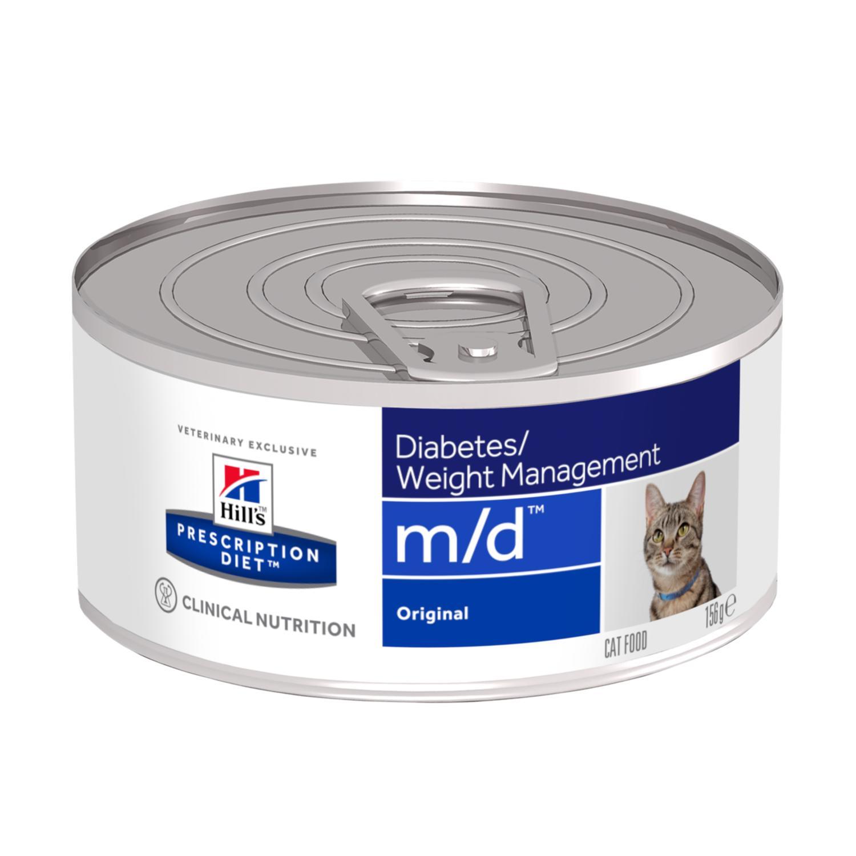 HILL'S Prescription Diet Feline M/D – лікувальний вологий корм із куркою для котів при цукровому діабеті