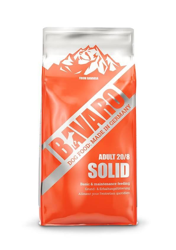 BAVARO SOLID 20/8 ADULT – сухой корм для пожилых собак или собак с  сниженной активностью