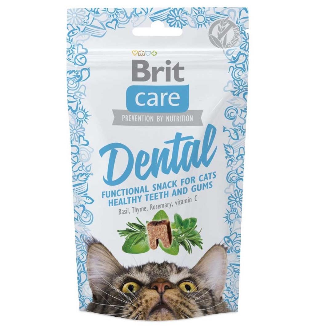 Brit Care Dental – полумягкие лакомства для котов
