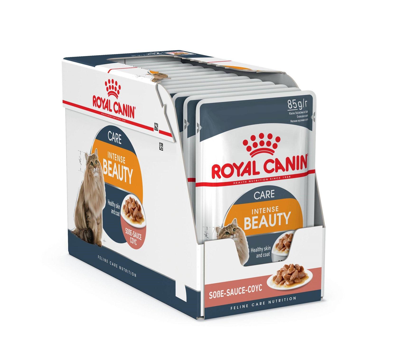 ROYAL CANIN INTENSE BEAUTY CARE wet in gravy – вологий корм, шматочки в соусі, для дорослих котів для підтримки краси шерсті