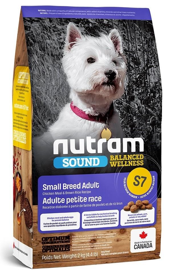 Nutram S7 Sound Balanced Wellness Small Breed Adult Dog – сухой корм с курицей и коричневым рисом для взрослых собак мелких пород