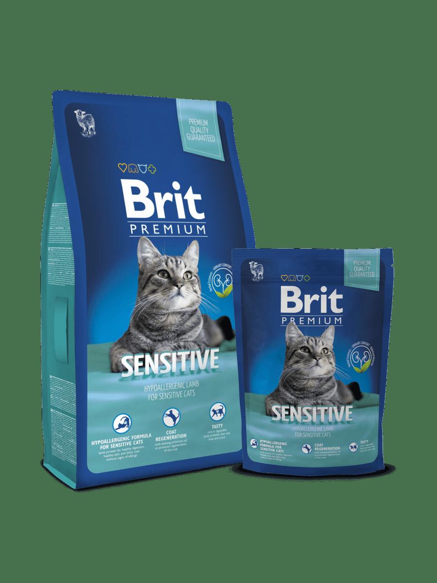 BRIT PREMIUM CAT SENSITIVE – сухий корм для дорослих котів з чутливим травленням