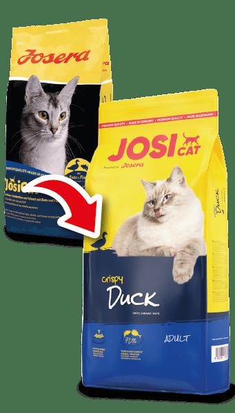 JosiCat Crispy Duck – сухой корм с уткой для взрослых котов