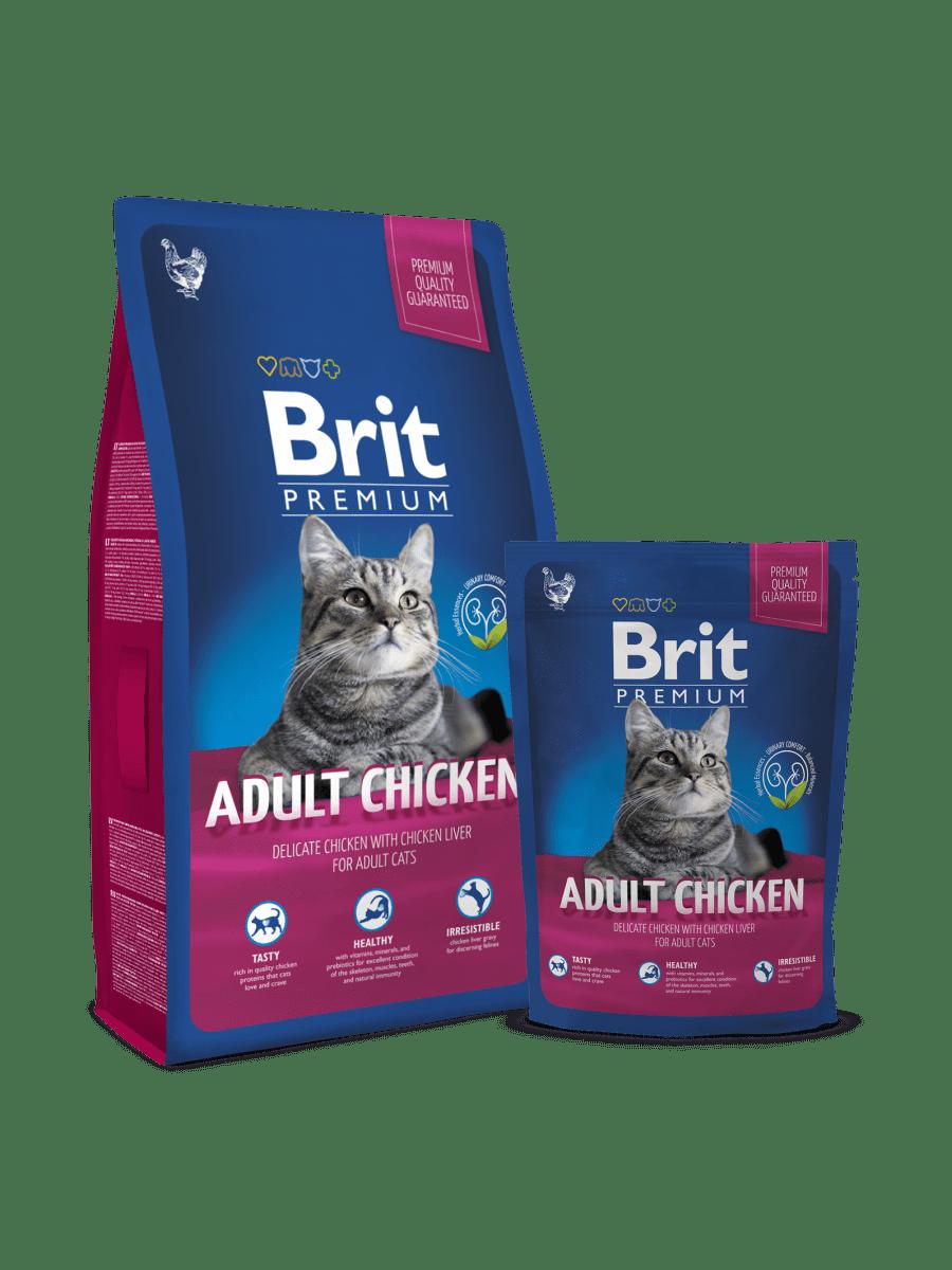 BRIT PREMIUM CAT ADULT CHICKEN – сухий корм з куркою для дорослих котів