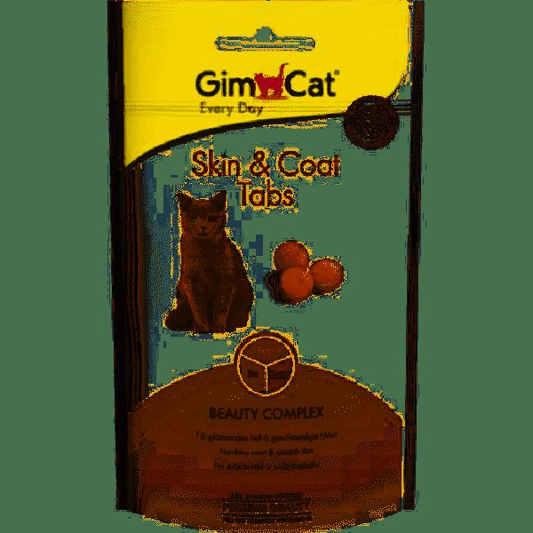 GimCat Skin & Coat Tabs – вітамінізовані ласощі для здоров'я шкіри і шерсті котів