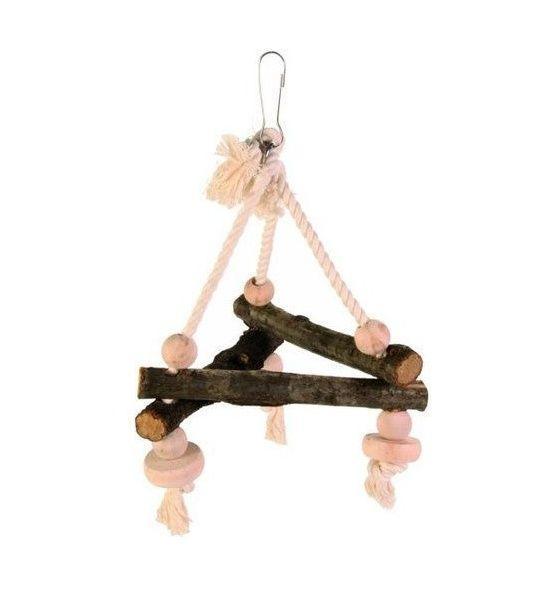 Trixie деревянная треугольная игрушка для птиц