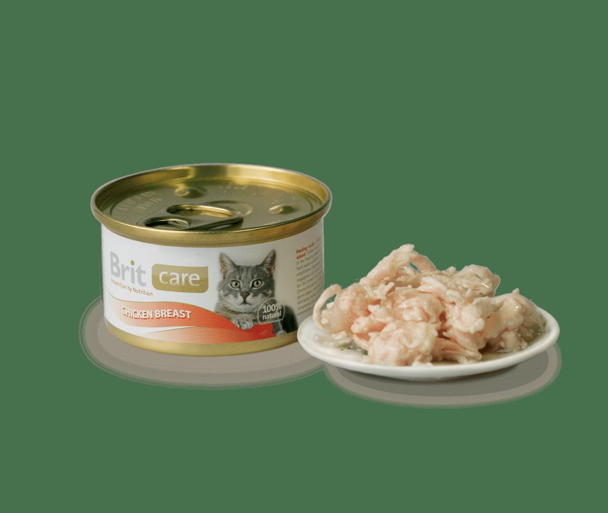 BRIT CARE CAT CHICKEN BREAST – консерви з курячим філе для дорослих котів