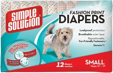 Fashion Disposable Diapers Small – підгузники з малюнком для собак малих порід