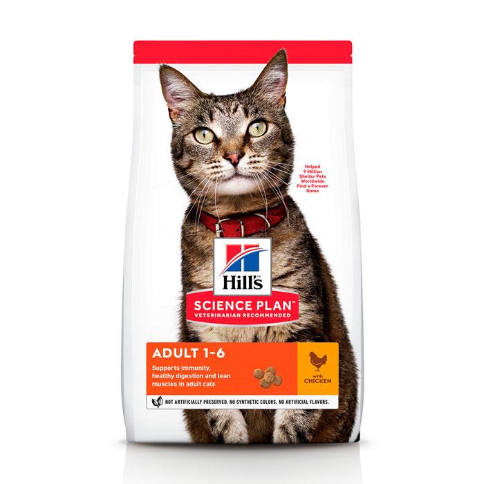 HILL'S SCIENCE PLAN ADULT OPTIMAL CARE сухий корм з куркою для дорослих котів