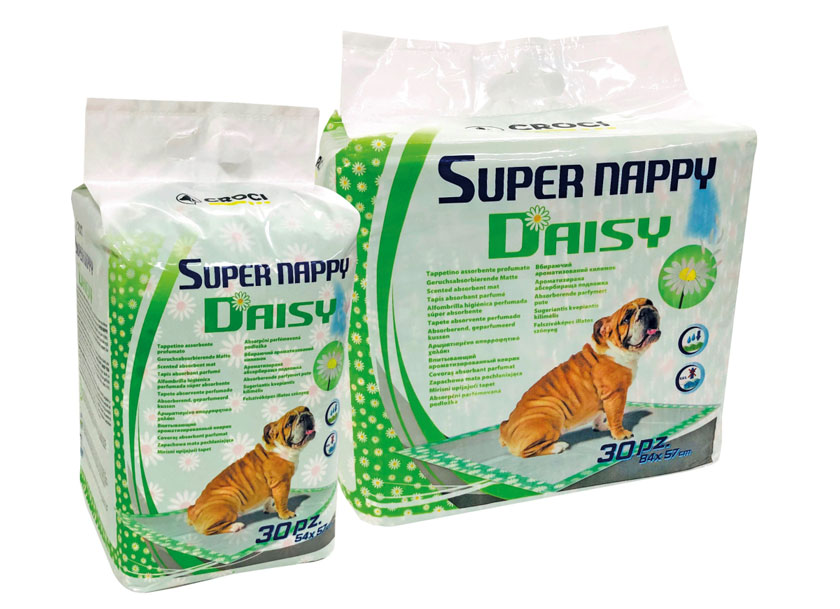 Croci Super Nappy Daisy пелёнки для собак с ароматом ромашки, Дейзи, 84×57