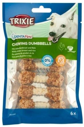 Trixie DENTAFUN Chewing Dumbbells – лакомства для собак с курицей и рисом