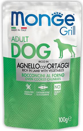 Monge Grill with Lamb and Vagetables – консервы с ягненком и овощами для собак