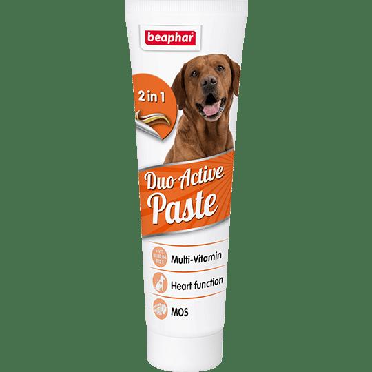 Beaphar Duo Active Paste Мультивитаминная двухцветная паста для собак