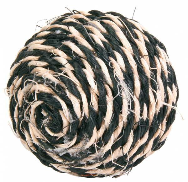 Trixie смугастий м'ячик із сизалю для кішок в асортименті