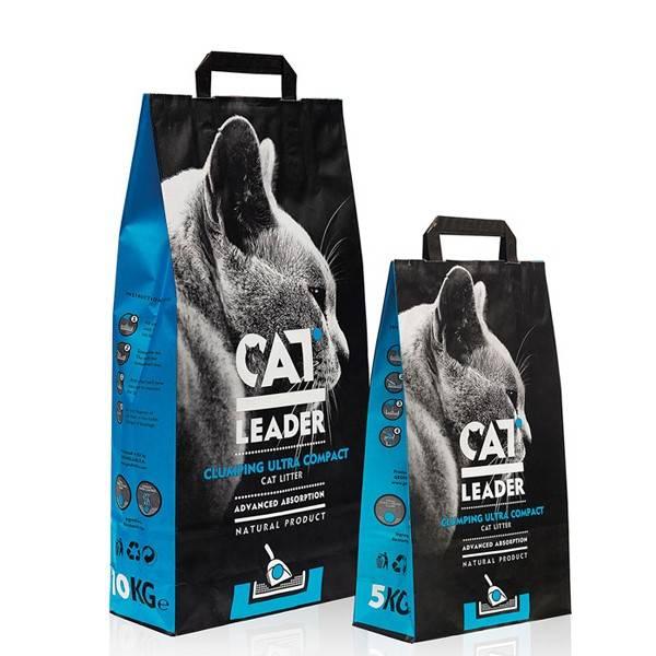 CAT LEADER – бентонитовый наполнитель для кошачьего туалета