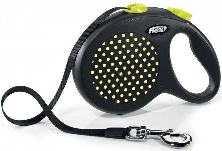Flexi Design L – поводок-рулетка для собак весом до 50 кг, лента