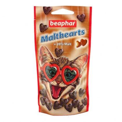 Beaphar Malthearts – ласощі з мальт-пастою для виведення шерсті для котів і кошенят