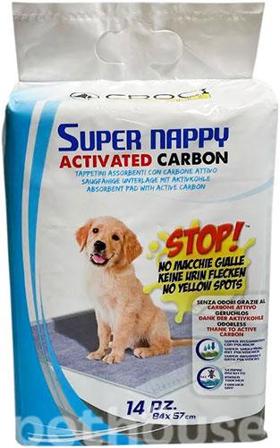Croci Super Nappy Carbon пелюшки для собак з активованим вугіллям, 84×57
