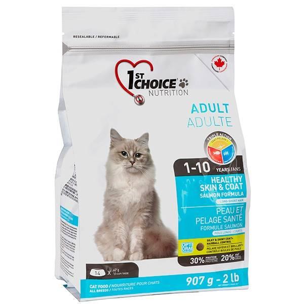 1ST CHOICE ADULT HEALTHY SKIN & COAT – сухий корм з лососем для довгошерстих котів