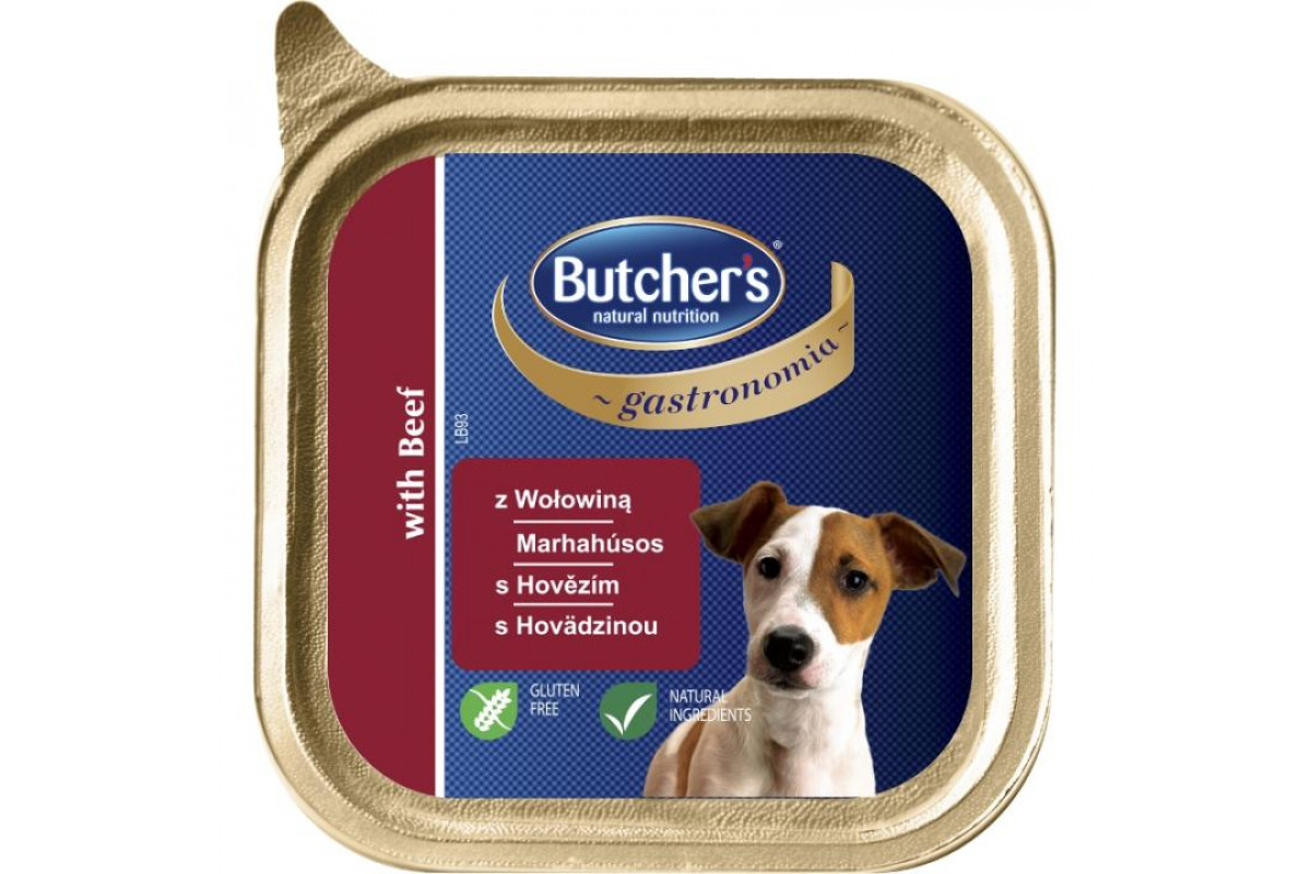 Butcher's Gastronomia вологий корм-паштет для собак з яловичиною
