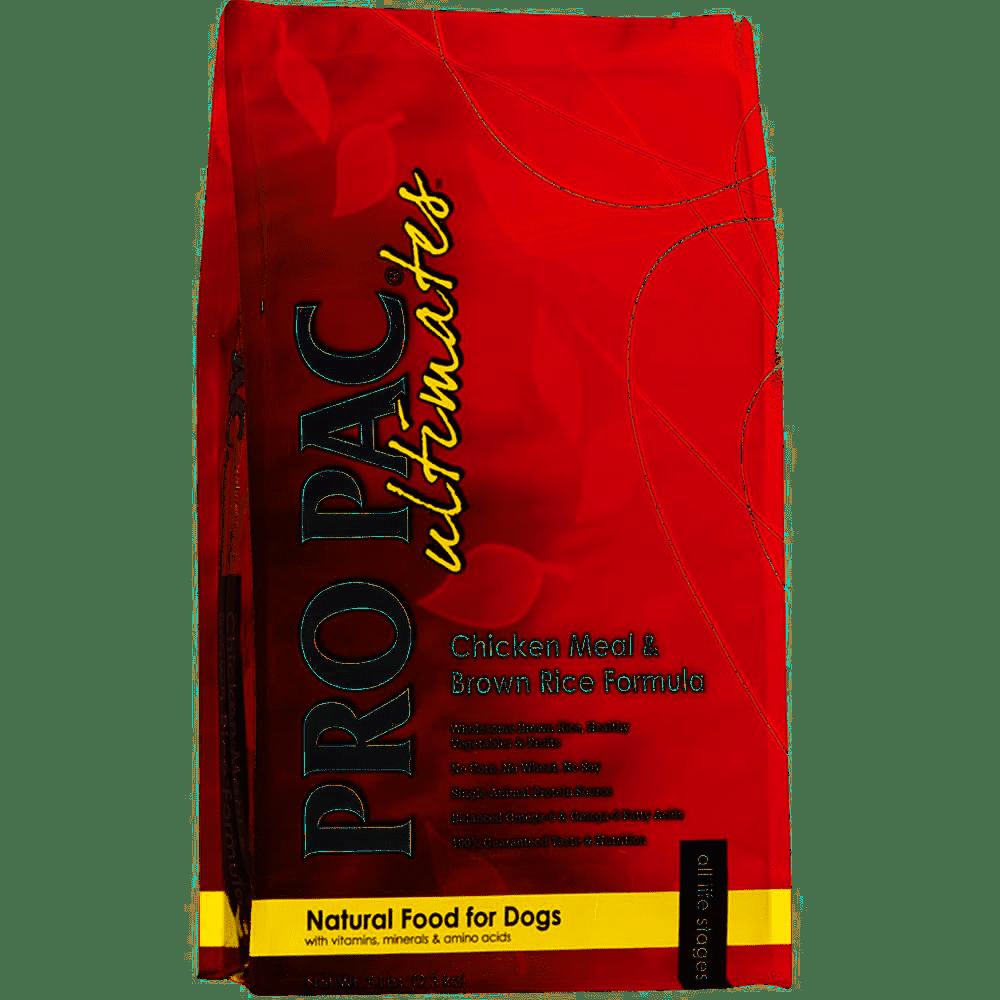 PRO PAC ULTIMATES DOG CHICKEN & BROWN RICE FORMULA – сухой корм с курицей и коричневым рисом для взрослых собак всех пород