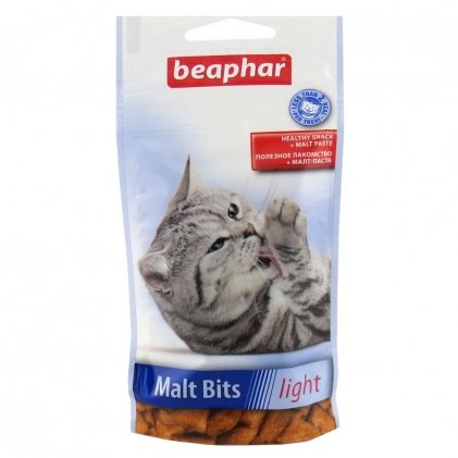 Malt Bits Light – низкокалорийные подушечки с мальт-пастой для котов