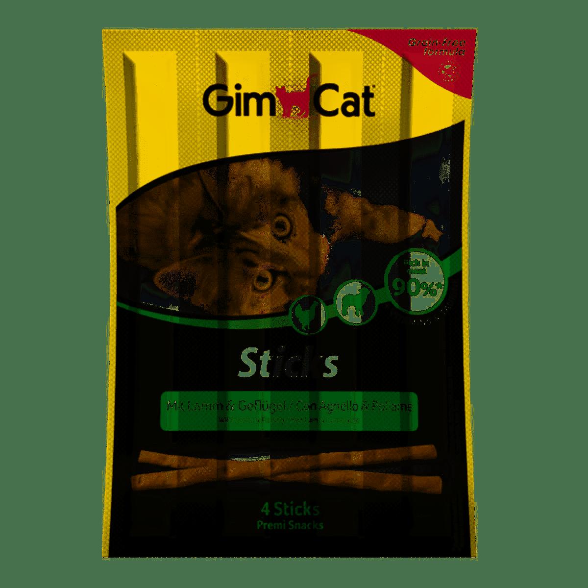 GimCat Sticks Lamb and Poultry – паличики з ягням і птицею для котів