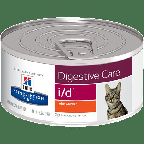 HILL'S Prescription Diet Feline I/D – лечебный влажный корм c курицей для котов с расстройствами пищеварения и в период выздоровления