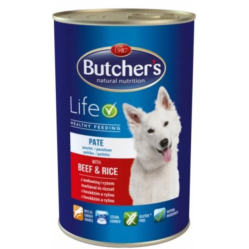 Butcher's Dog Life консервы з яловичиною та рисом для дорослих собак