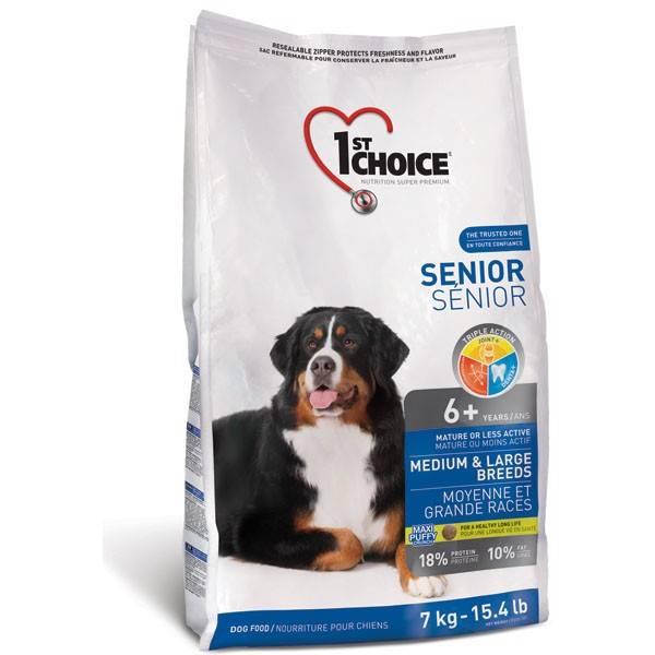 1ST CHOICE SENIOR MEDIUM & LARGE CHICKEN – сухой корм для пожилых собак средних и больших пород