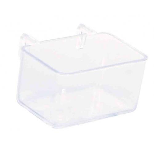 Trixie прозрачная подвесная пластиковая кормушка