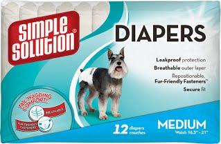 Simple Solution Disposable Diapers Medium – подгузники для собак средних пород